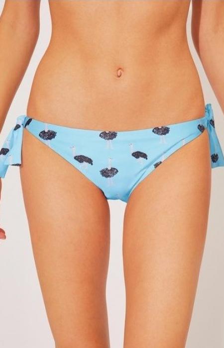 Ostrich Print Bikini Bottom