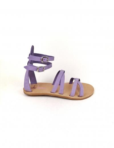 Minimalistic Lilac  Flat Sandals