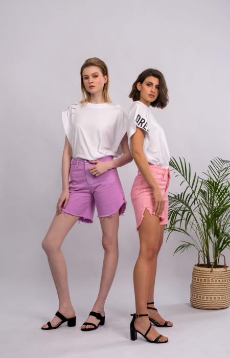 Olivia Denim Shorts Lilac