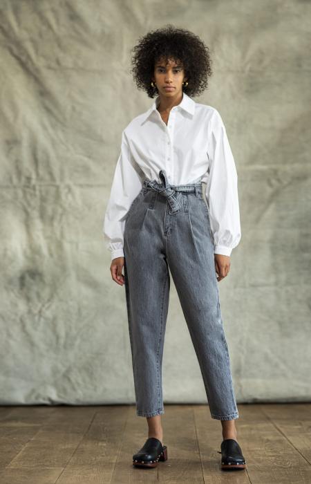 Rox Denim Pants Grey